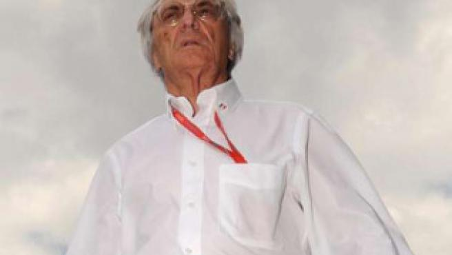 El patrón de la Fórmula 1 Bernie Ecclestone.