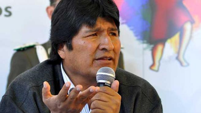 Evo Morales, en Tiquipaya (Bolivia).