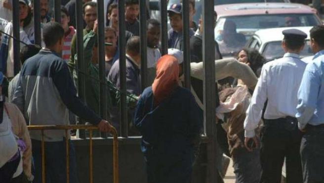 """Melilla muestra su """"malestar"""" por un cartel en la frontera con Marruecos en la que la tacha como """"ciudad ocupada"""""""