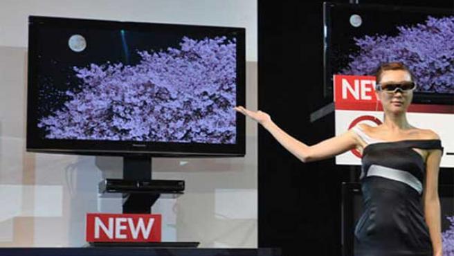 Un modelo de televisión de alta definición y 3D.
