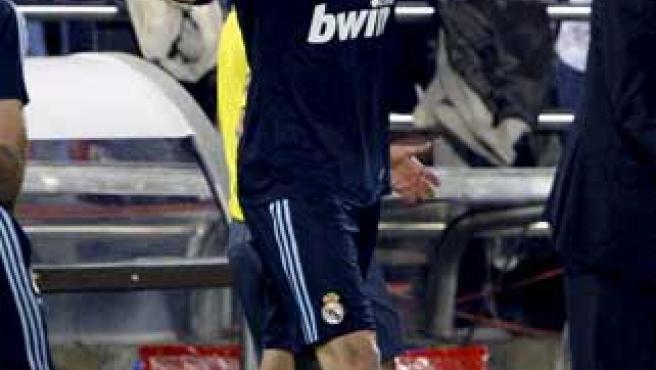 Kaká, celebra un gol con el Real Madrid.