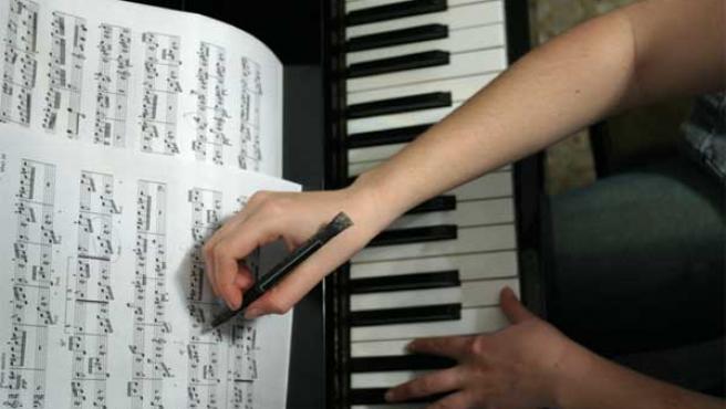 Una partitura... a la vieja usanza.