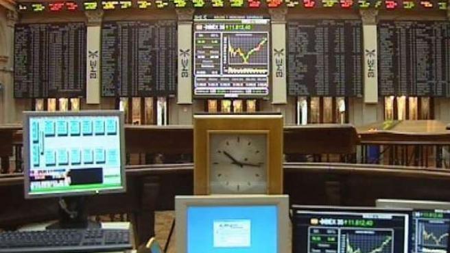 Imagen de archivo de la sede de la Bolsa española.