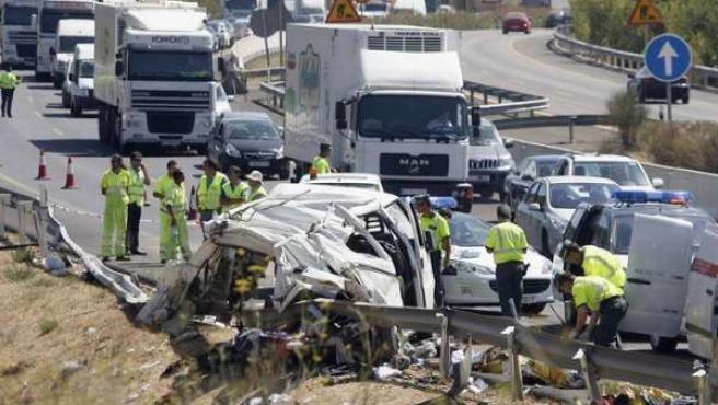 Un muerto y dos heridos, uno de ellos grave, en las carreteras andaluzas durante el fin de semana