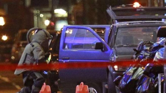 La Policía de Nueva York desactiva el coche bomba en Times Square.