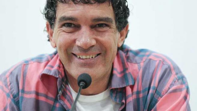 Antonio Banderas, en rueda de prensa en Málaga.