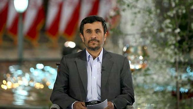 El presidente iraní, Mahmud Ahmadineyad, durante su discurso.