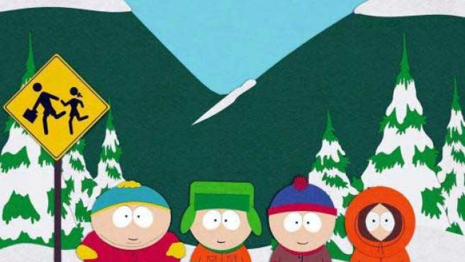 Los cuatro personajes protagonistas de 'South Park'.