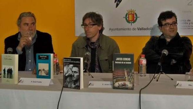 Rioyo, Trueba Y Cercas, Hoy En La Feria Del Libro De Valladolid