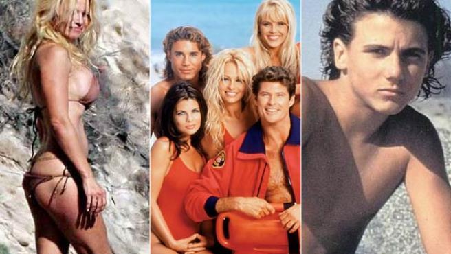 Algunos de los protagonistas de 'Los vigilantes de la playa'.