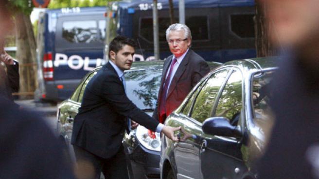Baltasar Garzón, a su salida este viernes de la Audiencia Nacional.