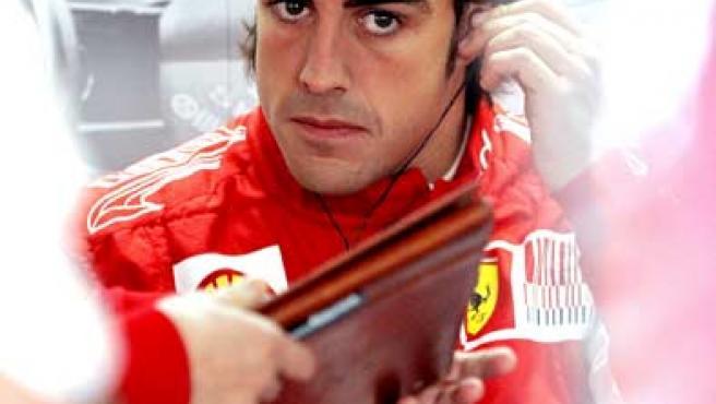 Fernando Alonso, piloto español de Ferrari, durante el Gran Premio de Mónaco.