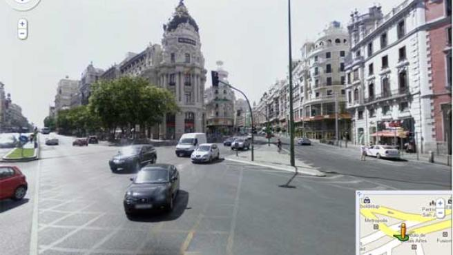 Madrid en Google 'Street View'.