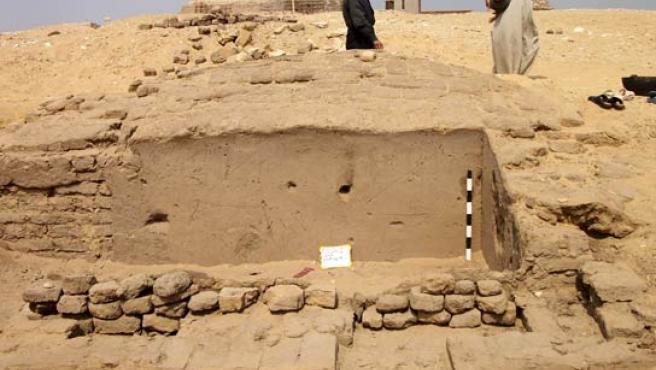 Primeras imágenes de la tumba egipcia recién excavada en Saqara.