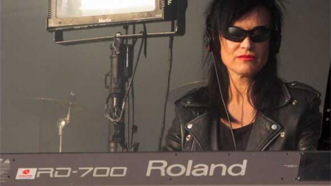 Ana Curra, durante su actuación en el festival Universimad en Madrid.