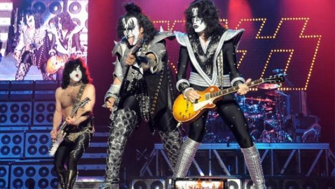 Imagen del grupo Kiss.