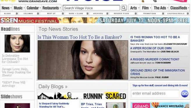 Debrahlee Lorenzana en la portada de 'The Village Voice'.