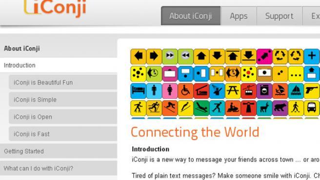iCongi se basa en pequeños pictogramas para comunicarse mediante mensajería móvil