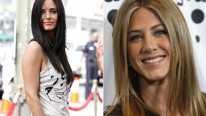 Courteney Cox y Jennifer Aniston.