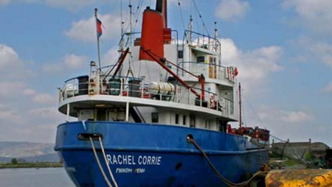 Fotografía de archivo que muestra al navío irlandés 'Rachel Corrie'.