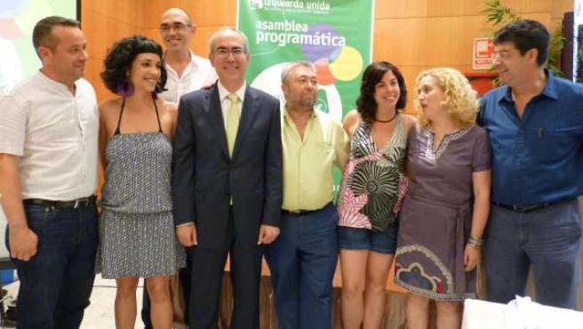 Primeros miembros de la candidatura de IU