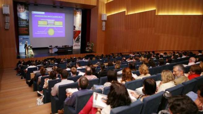 Imagen de la jornada sobre audiología pediátrica en Pamplona.