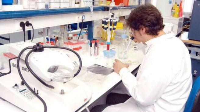 mujer trabajando laboratorio