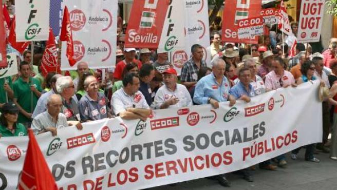 Manifestación en Sevilla del sector público