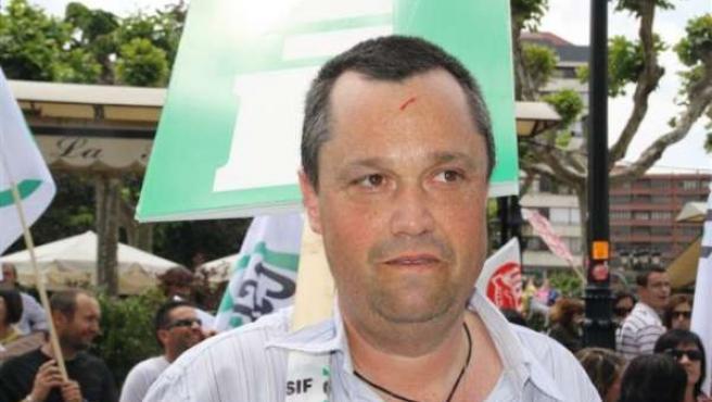 Presidente del CSIF tras ser agredido