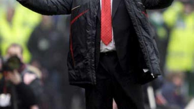 Rafa Benítez, entrenador del Liverpool.