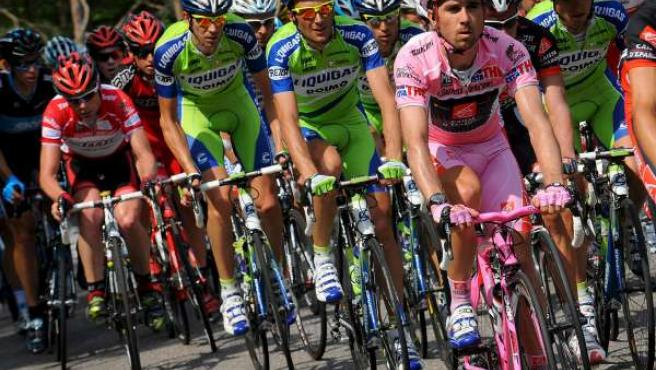 Davi Arroyo, durante una etapa del Giro 2010.