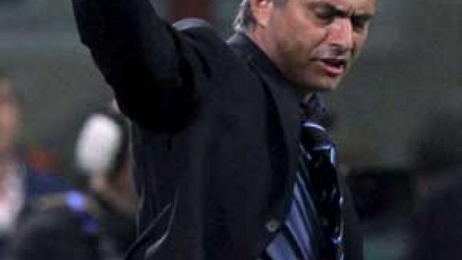 El entrenador del Inter de Milán, José Mourinho