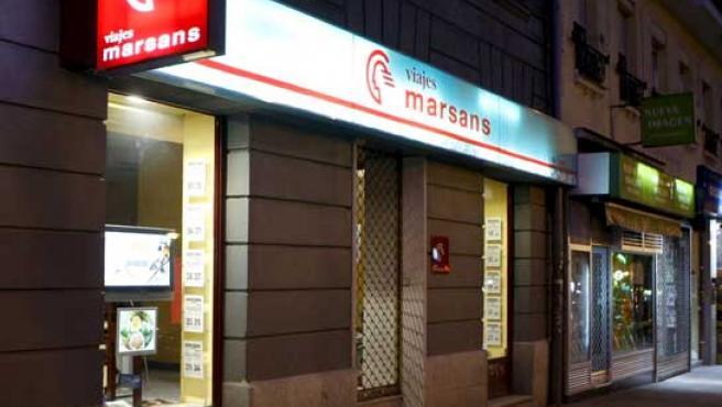 Agencia de Viajes Marsans en el centro de Madrid.