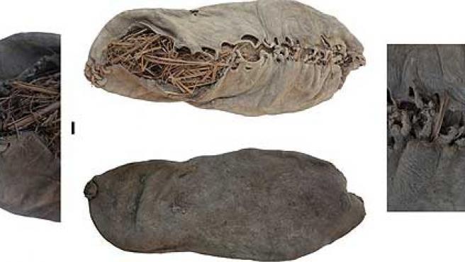 Este es el zapato hallado en una excavación en Armenia, en la frontera con Irán y Turquía.