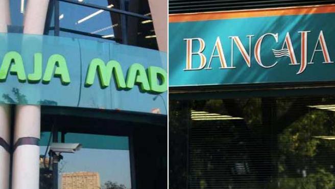 Dos oficinas de Caja Madrid y Bancaja.