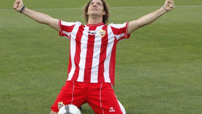David Bisbal, vestido de la Unión Deportiva Almería
