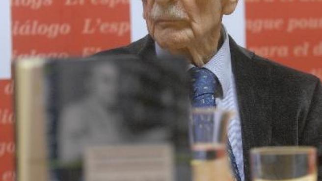 """Francisco Ayala, en la presentación de sus """"Obras completas""""."""