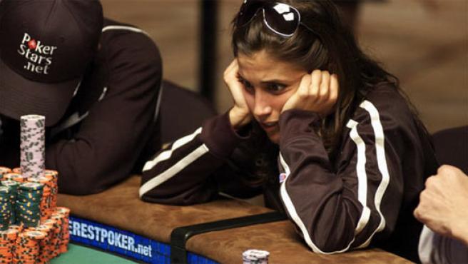 La jugadora española concentrada en un momento del torneo.
