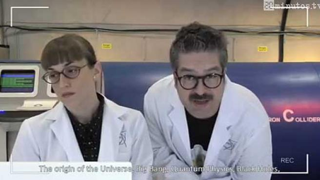 Una imagen de la 'webserie' ganadora, 'LHC Agujeros negros'.