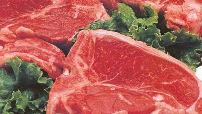 Carne preparada para la venta