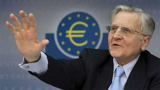 Imagen de archivo del presidente del Banco Central Europeo, Jean Claude Trichet.