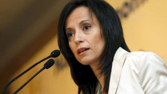 La ministra de Vivienda, Beatriz Corredor, durante una de sus intervenciones.