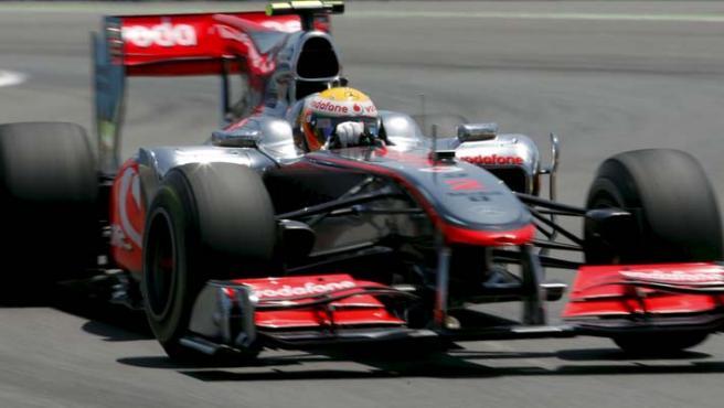 El piloto británico de McLaren, Lewis Hamilton, protagonista en Valencia.