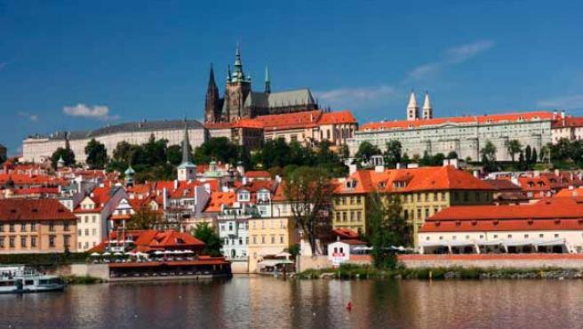Vista panorámica de la ciudad de Praga.