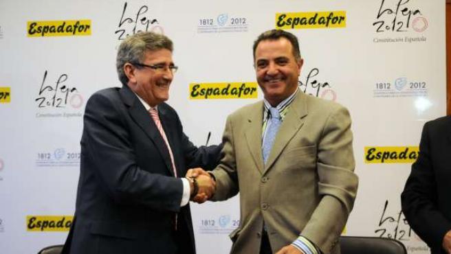 Pizarro, durante la firma del convenio