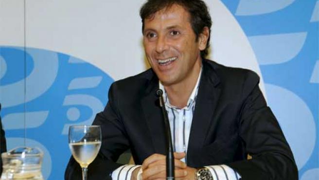 Paco González, durante su presentación en Telecinco.
