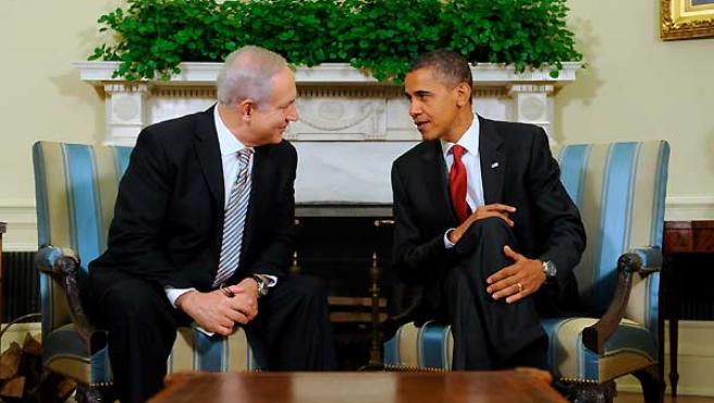 Benjamin Netanyahu y Barack Obama, durante su reunión.