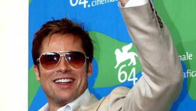 Brad Pitt, en una imagen antes de dejarse tentar por la barba.