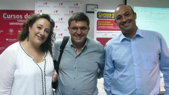 Virginia P. Alonso (directora adjunta de 20minutos.es), Mario Tascón (editor de lainformacion.com) y José Manuel Valenzuela (director de comunicación online de BBVA)