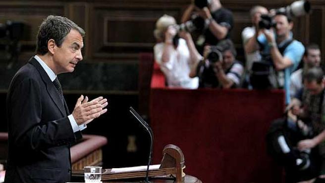 Zapatero, durante su discurso en el debate sobre el estado de la nación.